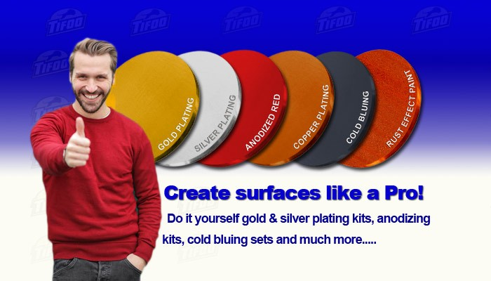 Tifoo kits for electroplatinganodizingcold bluing gold testing do it yourself electroplating gold and silver plating kits anodizing at home sets solutioingenieria Gallery